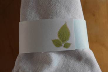 Green Leaf Napkin Ring